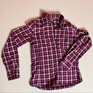 The North Face Button Down Plaid top